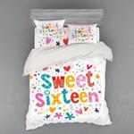 Sweet Sixteen Color 3D Bedding Set Bedroom Decor