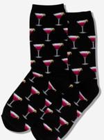 Women's Cosmo Cocktail Black Socks Comfortable Funny Cute Unique Socks
