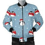 Cute Penguin Christmas Snow Pattern 3D Printed Unisex Jacket