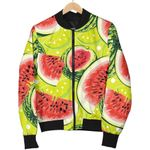 Lime Green Watermelon Pattern  3D Printed Unisex Jacket