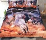 Horses Avoid Thunder Storm Printed Bedding Set Bedroom Decor