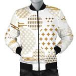 Beautiful Gold Japanese Pattern 3D Printed Unisex Jacket