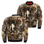 Deer Hunting Camo 3D Printed Unisex Bomber Jacket