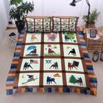 Dog Season And Countries Printed Bedding Set Bedroom Decor
