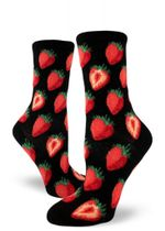 Strawberry Women's Crew Socks Funny Cute Unique Socks