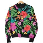 Colorful Hibiscus Flowers Pattern  3D Printed Unisex Jacket