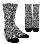 Graffiti Surfing Pattern Print Unisex Crew Socks