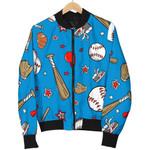 Blue Sport Baseball Pattern 3D Printed Unisex Jacket