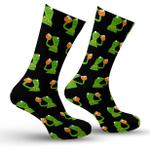 Kermit The Frog Meme  Printed Crew Socks
