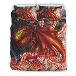 Ocean Octopus  Printed Bedding Set Bedroom Decor