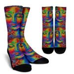 Colorful Buddha Print Unisex Crew Socks
