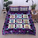 Fairy Purple Pattern Printed Bedding Set Bedroom Decor