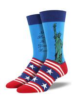 "Men's ""Lady Liberty"" Socks Comfortable Funny Cute Unique Socks"
