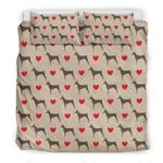Doberman Dog Heart Dots Bedding Set Bedroom Decor