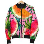 Colorful Leaf Watermelon Pattern  3D Printed Unisex Jacket