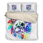Watercolor Feather French Bulldog Printed Bedding Set Bedroom Decor
