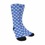 Blue Grid Sublimated Crew Socks Comfortable Cute Funny Unique Unisex Socks