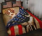 Chihuahua And US Flag Printed Bedding Set Bedroom Decor