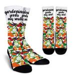 Vegetable Gardening Feeds My Soul  Printed Crew Socks