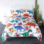 Dinosaur How The Wonderful World Is Printed Bedding Set Bedroom Decor