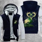 Mystical Forest Lord 3D Printed Unisex Fleece Zipper Jacket