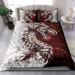 Red Dragon Pattern Printed Bedding Set Bedroom Decor