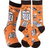 """""""Mom Life"""" Socks - One Size Gift Ideas For Men Women Funny Unique Socks"""