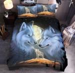 Moon Wolf Howling Bedding Set Bedroom Decor