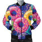 Yummy Donut Pattern 3D Printed Unisex Jacket