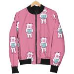 Cute Bigfoot Pink Pattern Print 3D Printed Unisex Jacket