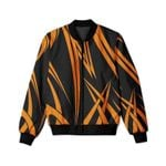Orange Stripes Pattern 3D Printed Unisex Jacket