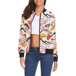 Cherry Blossom Koi Fish Pattern 3D Printed Unisex Jacket