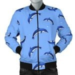 Dolphin Blue Pattern 3D Printed Unisex Jacket