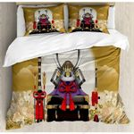 Japanese Things  Printed Bedding Set Bedroom Decor