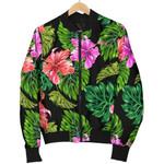 Monstera Hibiscus Hawaii Pattern 3D Printed Unisex Jacket