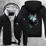 Wolf Brevis 3D Printed Unisex Fleece Zipper Jacket