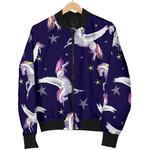 Night Winged Unicorn Pattern  3D Printed Unisex Jacket