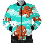 Octopuses Sea Wave Background 3D Printed Unisex Jacket