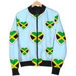 Jamaican Heart Pattern 3D Printed Unisex Jacket