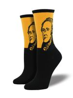 Women's Hamilton Portrait Socks Comfortable Funny Cute Unique Socks