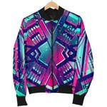 Neon Ethnic Aztec Trippy  3D Printed Unisex Jacket