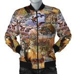Camo Hunting Animals Art 3D Printed Unisex Jacket