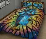 Blue Butterfly Zipper Printed Bedding Set Bedroom Decor