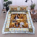 Dog Breeds Blue Bedding Set Bedroom Decor