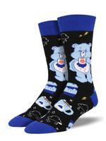 "Men's Care Bears ""More Coffee, Less Grumpy"" Socks Comfortable Funny Cute Unique Socks"