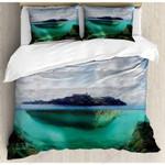 Island Half Under Water Printed Bedding Set Bedroom Decor