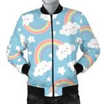 Blue Rainbow Cloud Pattern 3D Printed Unisex Jacket