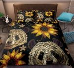 Panda Sunflower Hand Drawn Printed Bedding Set Bedroom Decor