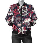 Flower Sugar Skull Pattern 3D Printed Unisex Jacket