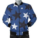 Black And White Star Pattern 3D Printed Unisex Jacket